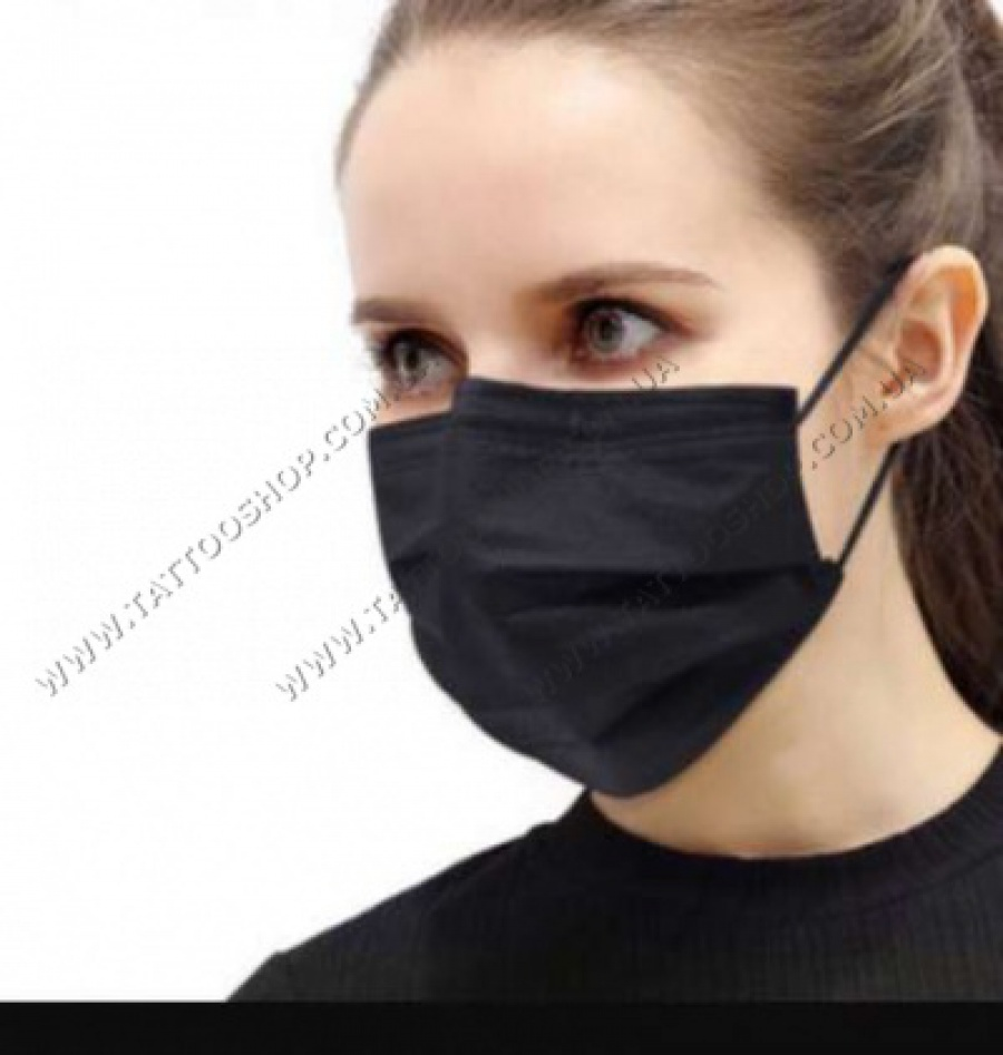 ЧЕРНЫЕ Защитные маски для лица.10 шт.Китай.