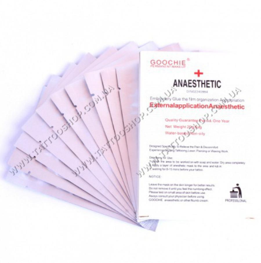 GOOCHIE Анестезия в стикере для ГУБ.1 шт