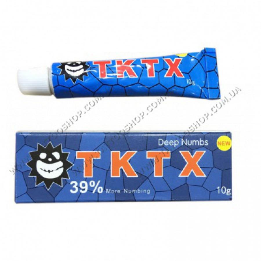 TKTX-39 %-BLUE анестезия для тату и татуажа.10 грамм.