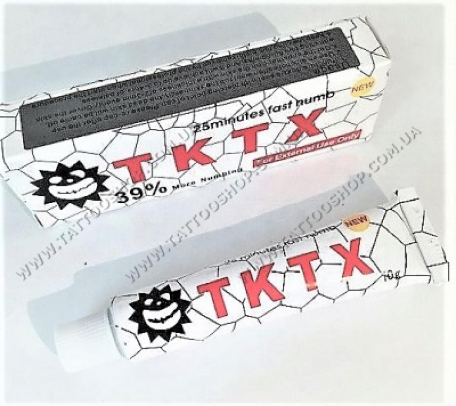 АКЦИЯ ! TKTX-39 %-WHITE анестезия для тату и татуажа. 10 грамм.