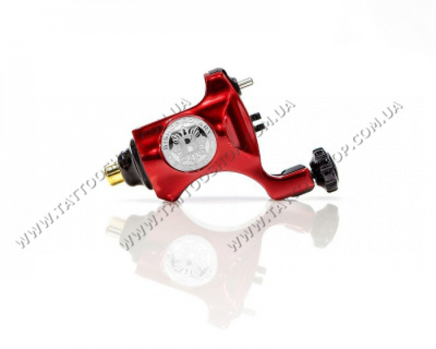 НАЛИЧИЕ. Bishop Rotary Tattoo Machine – V6 Blood Red – RCA Model. 3,5 мм.