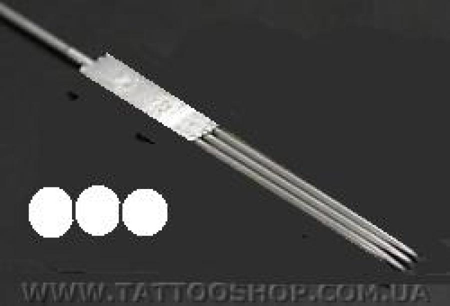 Игла для роторных машинок 0,35 х 50 мм (3F).10 шт.