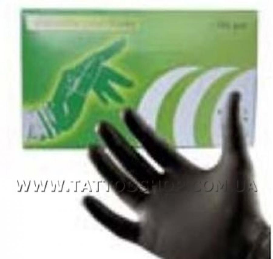 НА ВЫБОР 10-100 ШТ. Черные ЛАТЕКСНЫЕ перчатки. Китай
