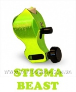 THE BEAST Body Only in Nuclear Green Rotary Tattoo Machine by ST