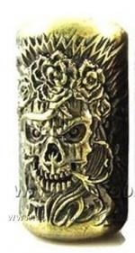 СКИДКА!!Литой держатель-23 мм х110 грм. Tattoo Grip.ЧЕРЕП.