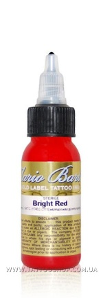 BRIGHT RED Mario Barth GOLD LABEL Tattoo Ink 1oz.