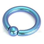 Титановые ЦВЕТНЫЕ кольца 4 x 12 мм.1 шт.США.