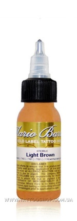 LIGHT BROWN by Mario Barth GOLD LABEL Tattoo Ink 1oz