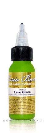 LIME GREEN by Mario Barth GOLD LABEL Tattoo Ink 1oz.