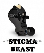 THE BEAST Body Only in Black Rotary Tattoo Machine by STIGMA