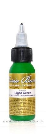 LIGHT GREEN by Mario Barth GOLD LABEL Tattoo Ink 1oz