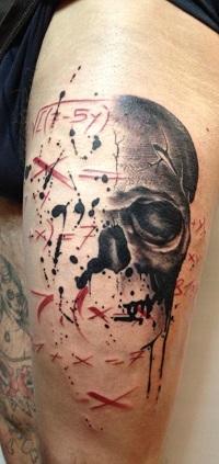 череп татуировка
